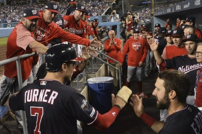 NLDS: Washington Nationals beat Los Angeles Dodgers, even series
