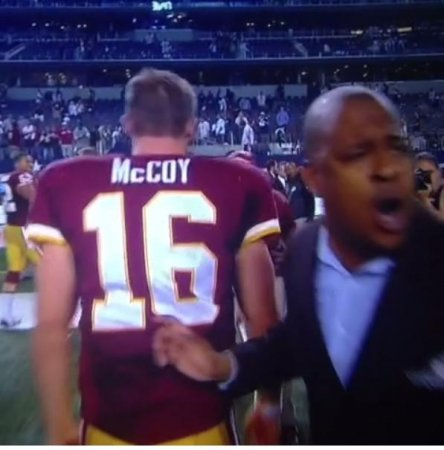 #Nomeansno goes viral after Redskins PR rep drags QB Colt McCoy off the field