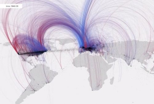 Five-minute video visualizes history of human culture