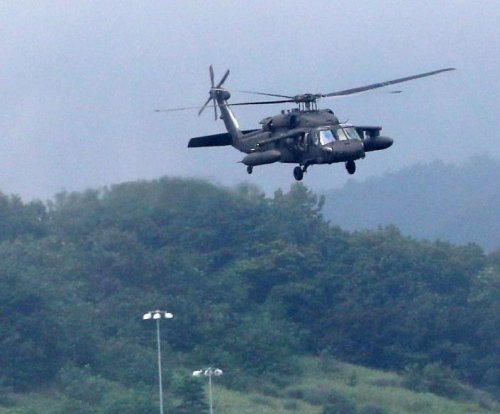U.S. army helicopters seen over South Korean THAAD site