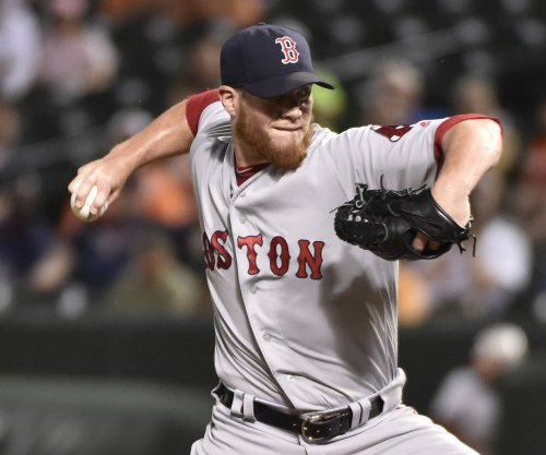 Boston Red Sox closer Craig Kimbrel has left knee surgically repaired
