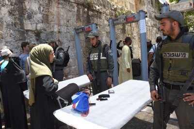 Muslims protest metal detectors at reopened Temple Mount