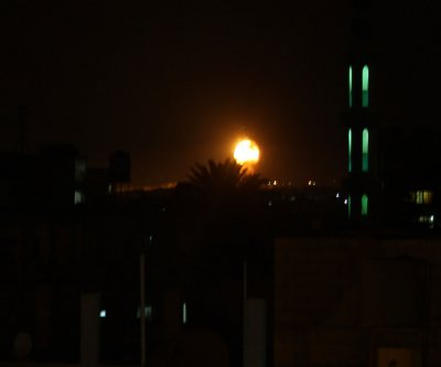 Israel strikes Hamas targets in retaliation to failed rockets from Gaza