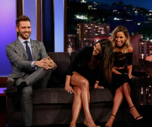 'Bachelor' Nick Viall has 'awkward' reunion with Andi Dorfman, Kaitlyn Bristowe on 'Jimmy Kimmel Live'