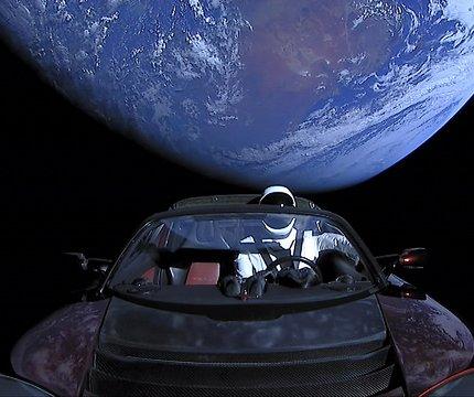 SpaceX 'Starman' travels toward asteroid belt in Tesla Roadster