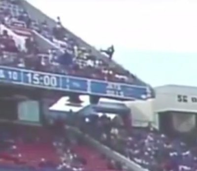 Two hospitalized after fan falls from railing at Buffalo Bills Stadium