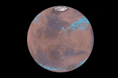 Mars' dust-covered glacial belts may contain tons of water