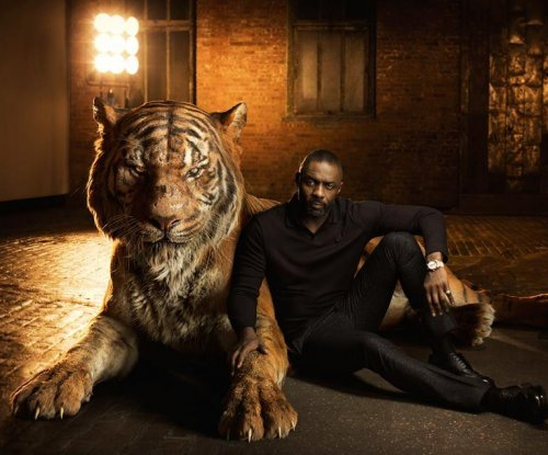 'The Jungle Book' stars pose with their on-screen characters