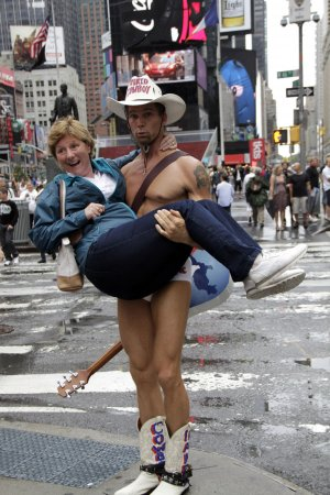 Naked Cowboy threatens suit against Indian