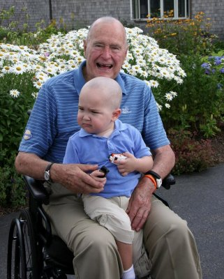 Bush: Shaving my head for boy, 2, was 'right thing to do'