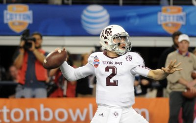 Dallas Cowboys interviewing Johnny Manziel at NFL Combine