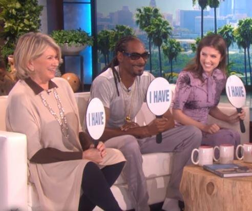 Martha Stewart, Snoop Dog, Anna Kendrick play 'Never Have I Ever' on 'Ellen'