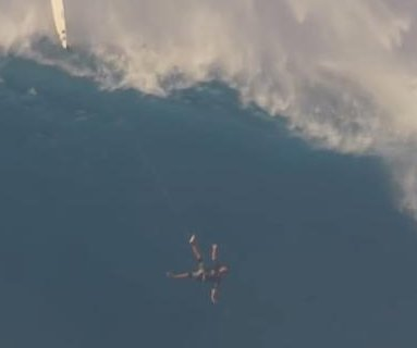 Surfer falls 40 feet from top of giant wave in Hawaii