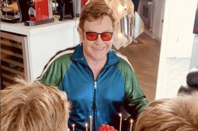 Elton John spends 'best birthday ever' with sons at home