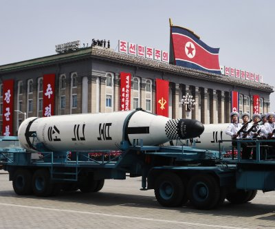 Report: Probable missile launcher spotted at N. Korea parade practice