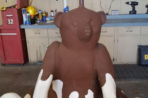 Beloved chocolate bear statue found one year after theft