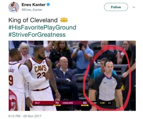 New York Knicks' Enes Kanter tweets dis at Cleveland Cavaliers' LeBron James