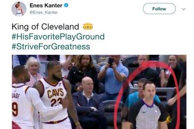 New York Knicks' Enes Kanter tweets dis at Cleveland Cavaliers' LeBron James