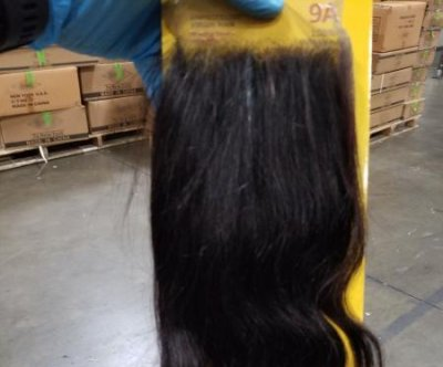 CBP officers seize 13-tons of human hair products imported from China