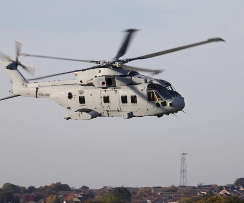 First U.K. Royal Navy AW101 Merlin MK4 takes flight