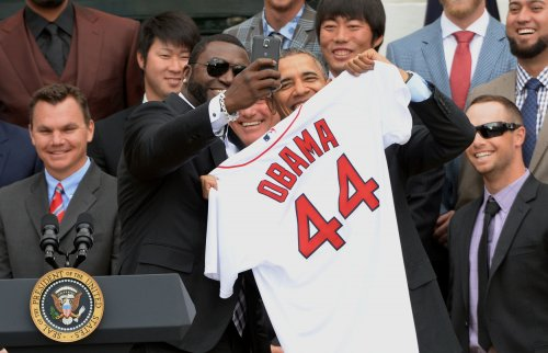 Big Papi's selfie with Obama was marketing ploy
