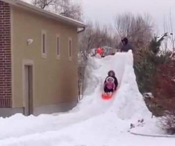 Utah dad builds 300-foot-long backyard luge course
