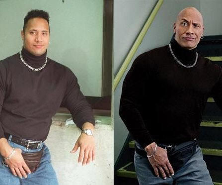 Dwayne Johnson recreates fanny pack throwback photo on Instagram