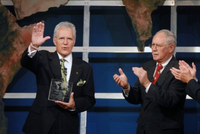 Alex Trebek sets TV hosting record with 'Jeopardy!'