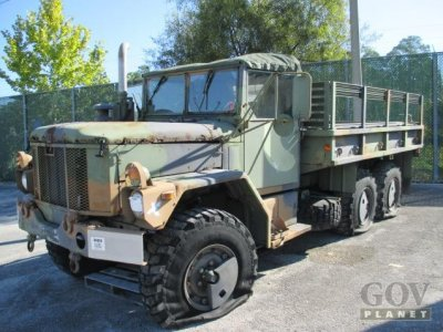 Surplus Department of Defense rolling stock on auction block