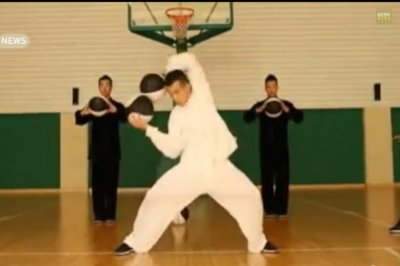 Performers combine basketball with tai chi