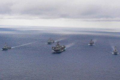 Amphibious assault ship USS Wasp departs U.S. 7th Fleet in Japan