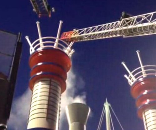 Smokestack catches fire during Reds game, some evacuated
