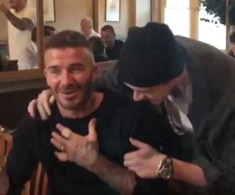 David Beckham tears up after son Brooklyn's birthday surprise