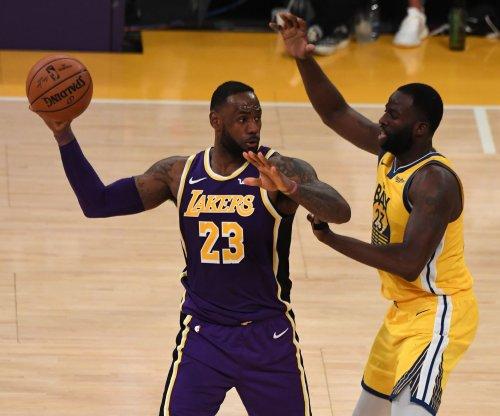 Lakers' LeBron James slams Jazz announcers, defends celebration in socks
