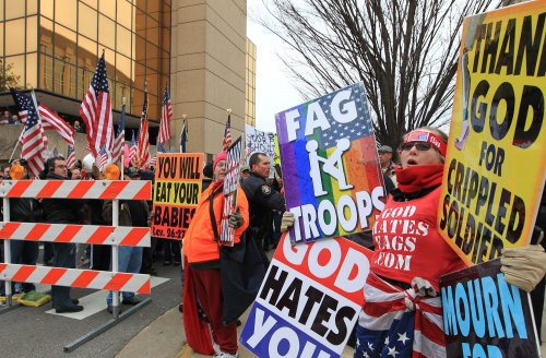 High school expecting Westboro Baptist protest instead found messages of love