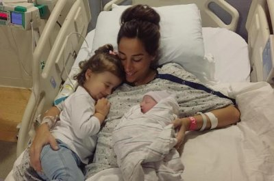 Danielle Jonas posts first photo with both daughters