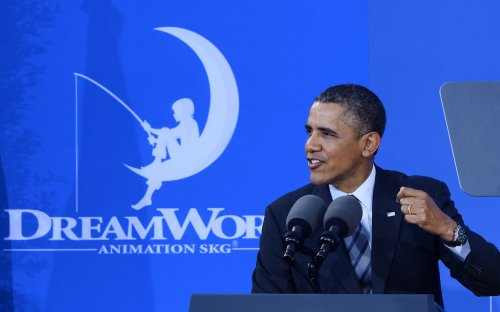 Welcome to Hollywood! Obama lauds entertainment industry