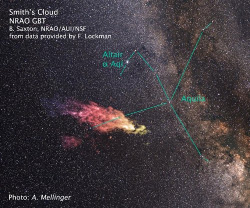 Coming home: Giant Smith gas cloud returning to Milky Way, astronomers say
