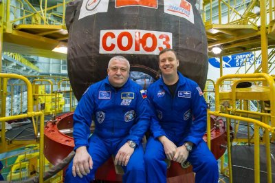 Rare two-man crew headed for International Space Station
