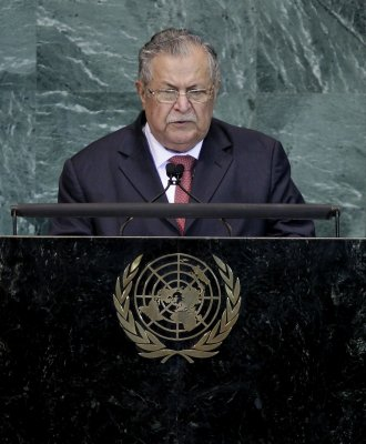 Iraq strikes upbeat tone at U.N.