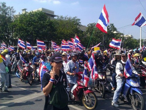 "Two explosions at ""Bangkok Shutdown"" injure 36"