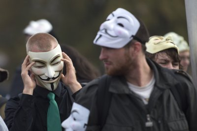 Thousands protest in London in Million Mask March