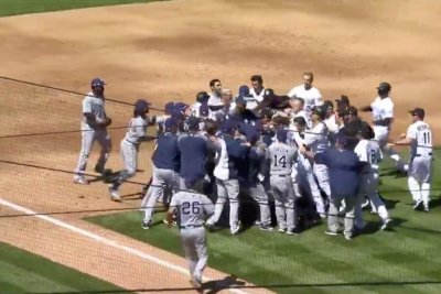 Rockies, Padres deliver first bench-clearing fight of 2018 season