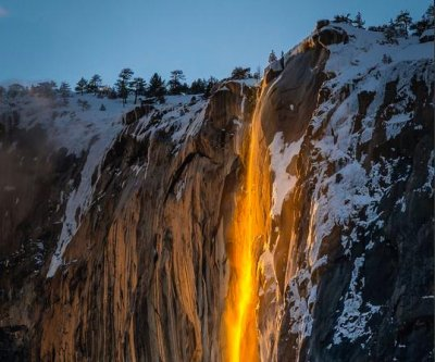 Photographers gather in Yosemite hoping to capture 'firefall'