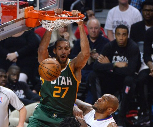 Utah Jazz center Rudy Gobert exits with injury vs. Boston Celtics