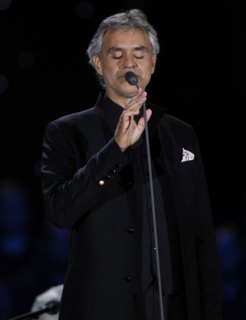 Andrea Bocelli suffers from stage fright
