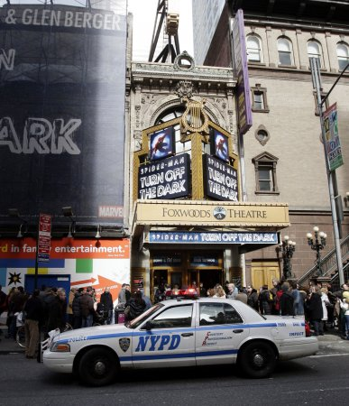 Spiderman actor injured at preview