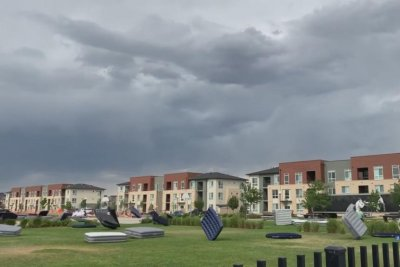 Dozens of air mattresses carried away by wind at Colorado park