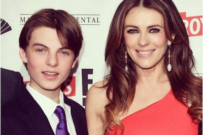 Elizabeth Hurley, son Damian attend 'The Royals' premiere