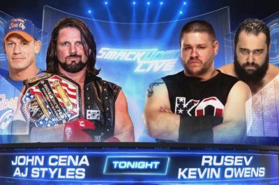 WWE Smackdown: John Cena, AJ Styles team up to face Kevin Owens, Rusev